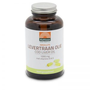 Mattisson Healthstyle Levertraan 1000mg Vitamine A & D Capsules