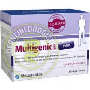 Metagenics Multigenics Men Zakjes 30st