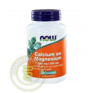 NOW Calcium en Magnesium Tabletten 100st