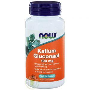 NOW Kalium Gluconaat 100mg Tabletten 100st