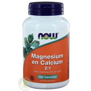 NOW Magnesium & Calcium 2:1 Tabletten 100st