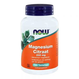 NOW Magnesium Citraat 200mg 250st