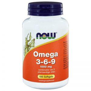 NOW Omega 3-6-9 1000mg Tabletten 100st