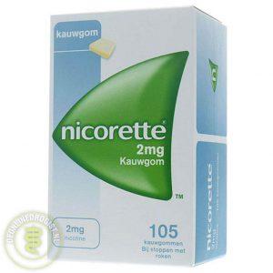 Nicorette Kauwgom 2mg Classic 105st