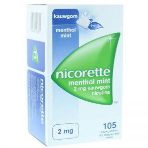 Nicorette Kauwgom 2mg Menthol Mint 105st