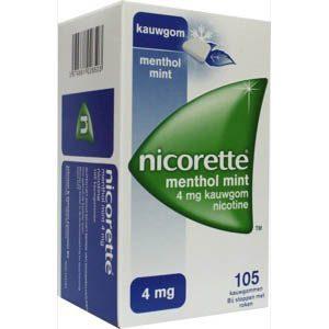 Nicorette Kauwgom 4mg Menthol Mint 105st
