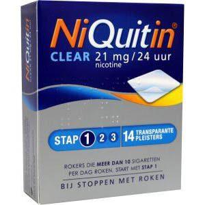 Niquitin Pleister 21mg Stap 1 14st