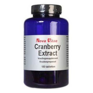 Nova Vitae Cranberry Extract Tabletten 180st
