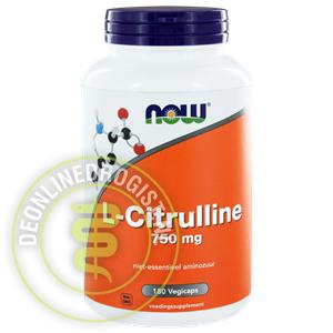 Now L Citrulline 750mg Capsules 180st