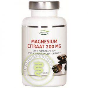 Nutrivian Magnesium Citraat 200mg Tabletten 100st