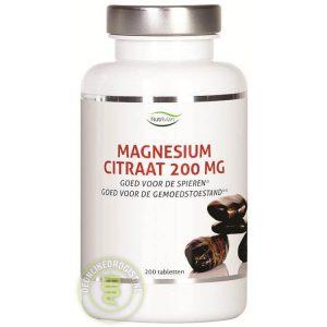 Nutrivian Magnesium Citraat 200mg Tabletten 200st