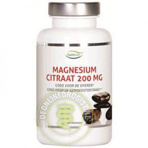 Nutrivian Magnesium Citraat 200mg Tabletten 50st