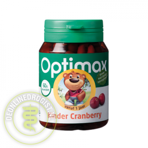 Optimax Kinder Cranberry Kauwtabletten 60st