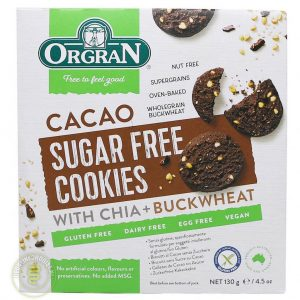 Orgran Sugar Free Cacao Cookies