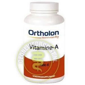 Ortholon Vitamine A 4000 IE Capsules 60st