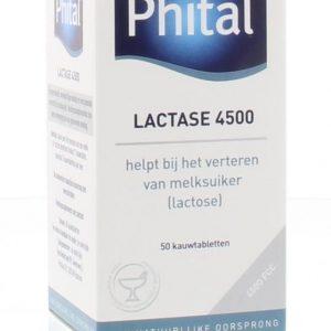 Phital Lactase 4500 Kauwtabletten Aardbei