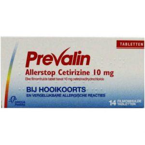 Prevalin Allerstop Hooikoorts Tabletten 14st