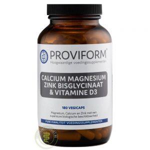 Proviform Calcium Magnesium Zink Bisglycinaat & D3 Vegicaps