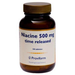 Proviform Niacine 500mg Time Released Tabletten 100st