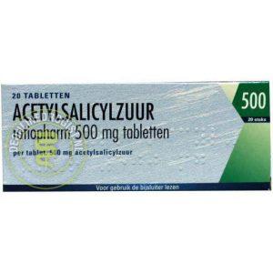 Ratiopharm Acetylsalicylzuur 500mg Tabletten 20st