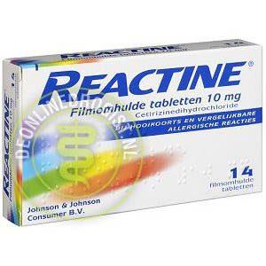 Reactine Cetirizine 10mg Tabletten 14st