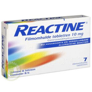 Reactine Cetirizine 10mg Tabletten 7st