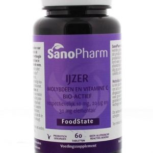 Sanopharm IJzer 10mg Molybdeen Tabletten