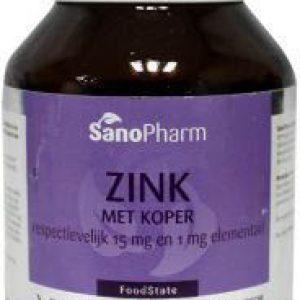 Sanopharm Zink Met Koper 15mg/1mg Tabletten