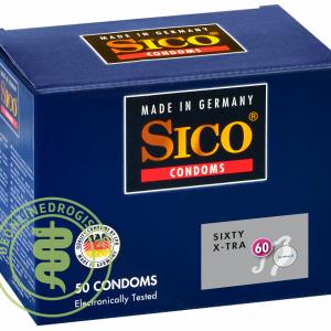 Sico 60 (Sixty) X-Tra Condooms