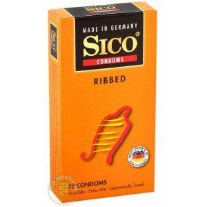 Sico Ribbed Condooms