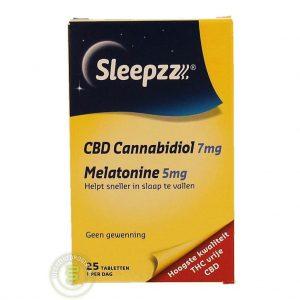 Sleepzz CBD 7mg/5mg Melatonine Tabletten