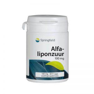 Springfield Alpha Liponzuur 100mg vegetaische Capsules 60st