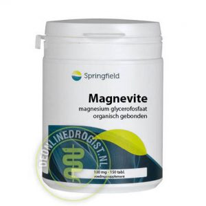 Springfield Magnevite Magnesium Glycerofosfaat 100mg Tabletten 150st