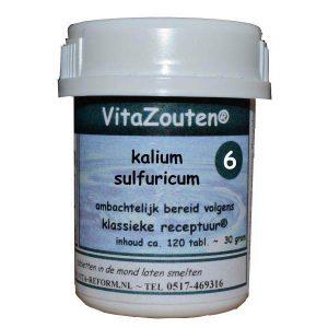 Vita Reform Vitazouten Nr. 6 Kalium Sulfuricum 120st
