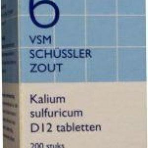Vsm Schussler Celzout No.6 Kalium Sulfuricum D12 Tabletten 200st