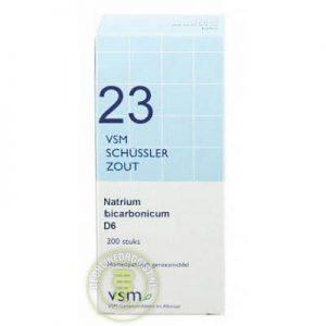 Vsm Schussler Celzout Nr.23 Natrium Bicarbonicum D6 Tabletten 200st