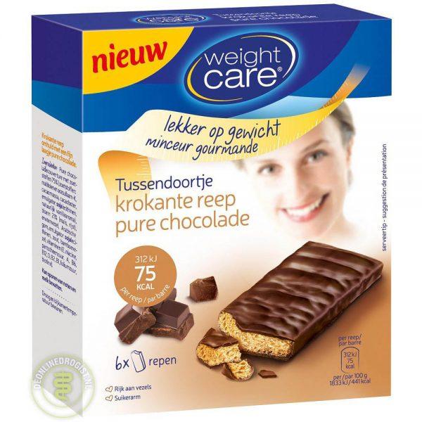 Weight Care Krokante Reep Pure Chocolade