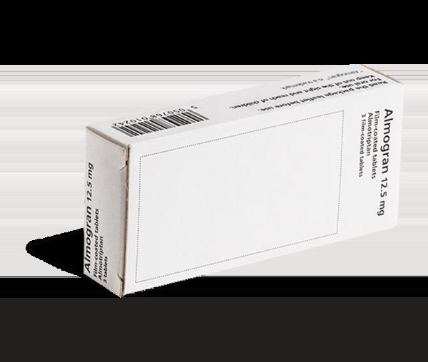Almogran migraine 12.5 mg - Achterkant