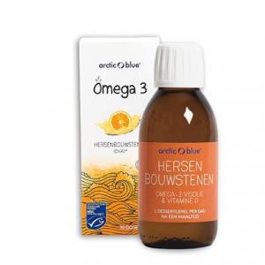 Arctic Blue Omega-3 Visolie met Vitamine D Sinaasappel