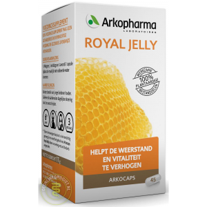 arkocaps royal jelly capsules 45st