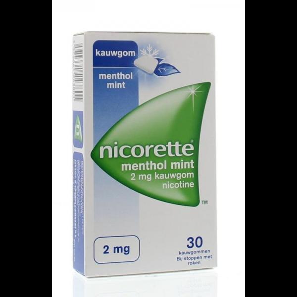 kauwgom 2 mg menthol mint