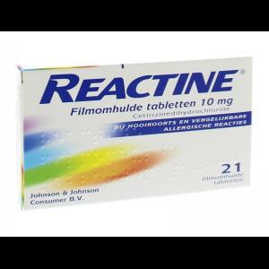 Reactine Cetirizine 10mg Tabletten 21st