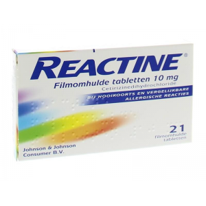 Reactine Cetirizine 10mg Tabletten 21st