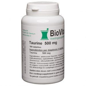 Biovitaal Taurine 500mg Capsules