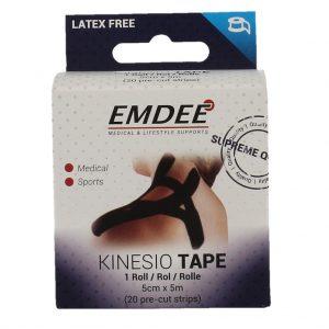 Emdee Kinesio Tape Zwart