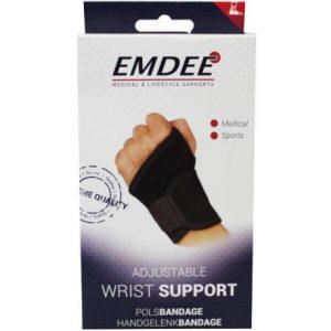 Emdee Supportband Pols Zwart