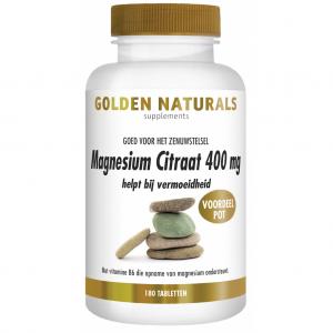 Golden Naturals Magnesium Citraat 400mg Tabletten