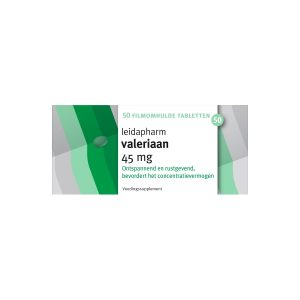 Leidapharm Valeriaan 45mg Tabletten 50st