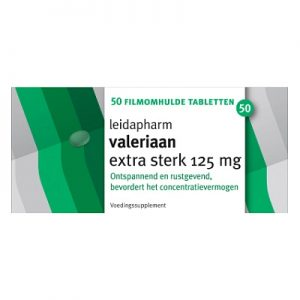 Leidapharm Valeriaan Extra Sterk 125mg Tabletten 50st