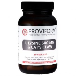 Proviform L-Lysine 500mg & Cat's Claw Vegicaps